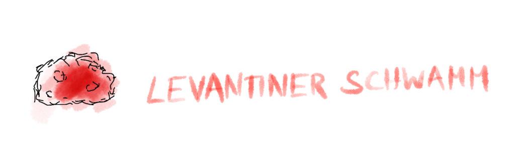 digitale Zeichnung eines Levantiner Schwamms