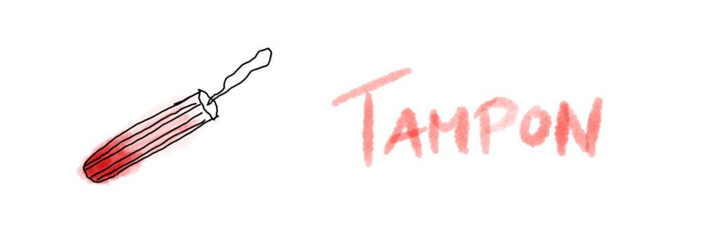 digitale Zeichnung eines Tampons